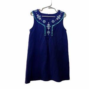 Gymboree blue embroidered sleeveless dress size 7
